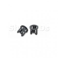 H51 Держатель 5мм (чёрный PP, с зацепками), SL004786