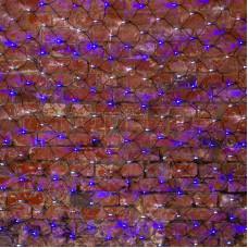 Гирлянда - сеть 2х1,5м, черный ПВХ, 288 LED Белые/Синие