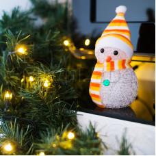 """Фигура светодиодная """"Снеговик"""" 10см, RGB"""