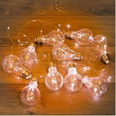 Гирлянда светодиодная Ретро-лампы , 3 м, ТЕПЛЫЙ БЕЛЫЙ